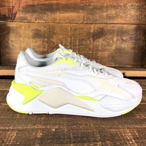 NEW Puma RS-X White Neon Sneakers
